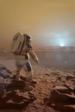 MARS1001 astronaut